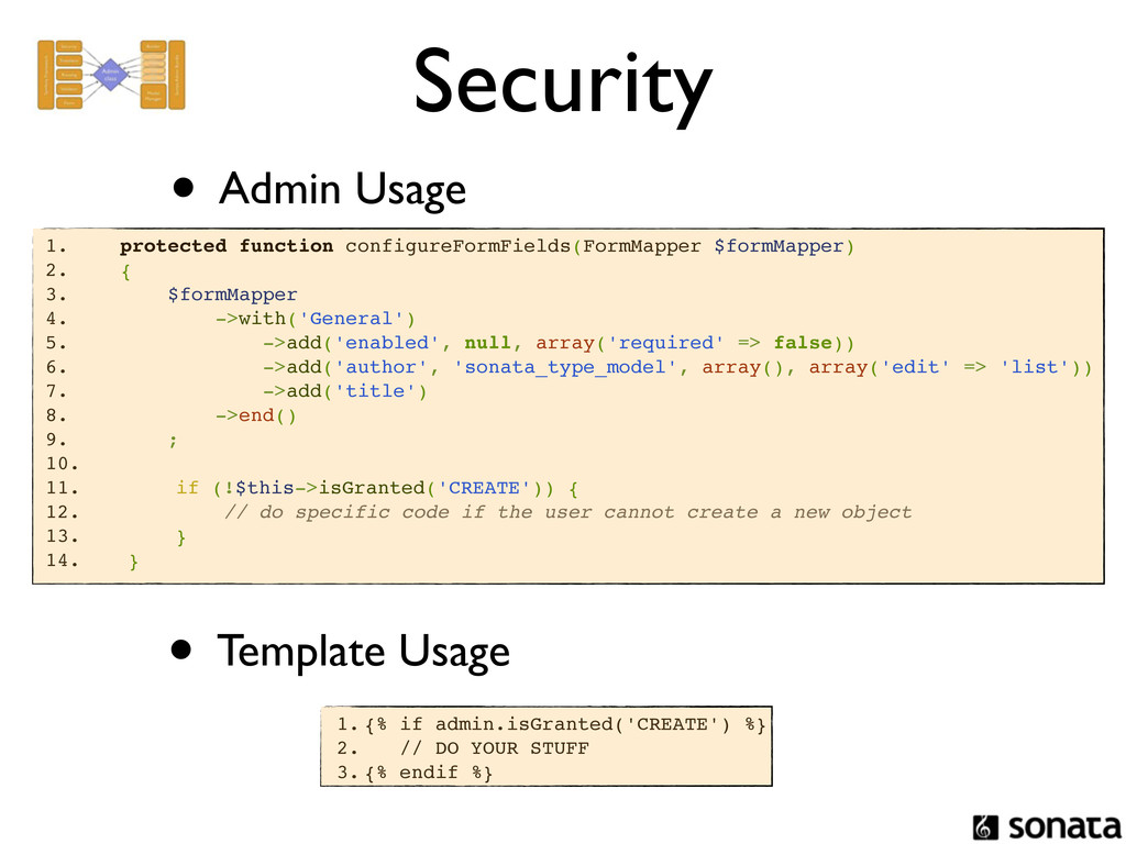 Security • Admin Usage 1. protected function co...