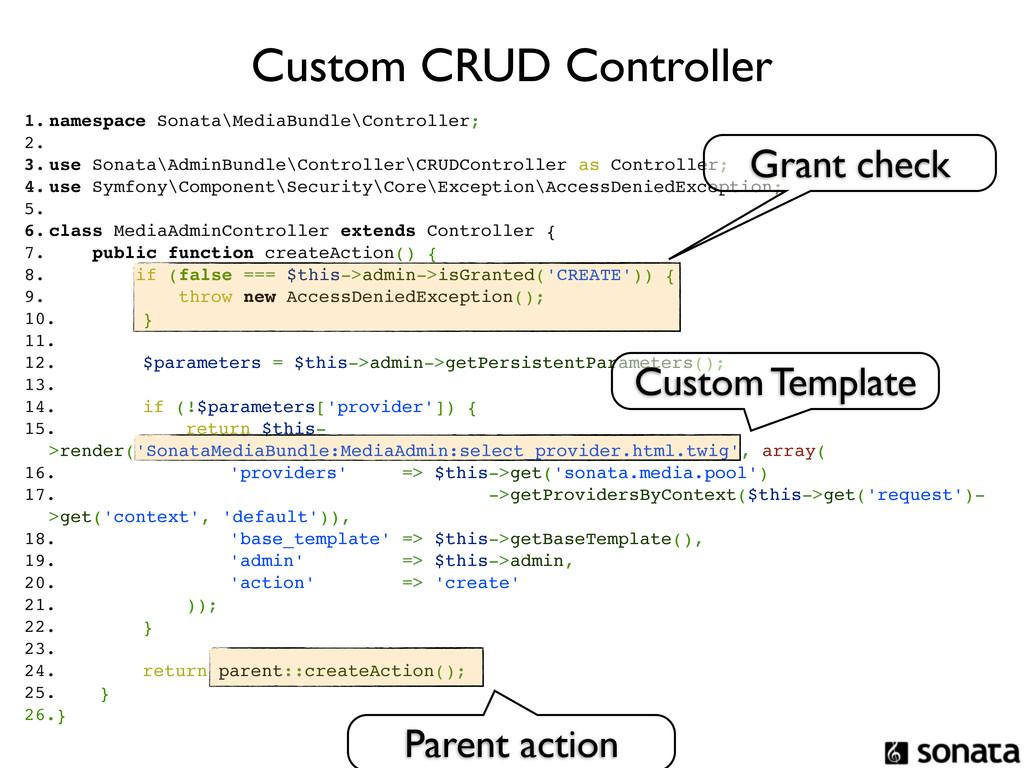 Custom CRUD Controller 1. namespace Sonata\Medi...