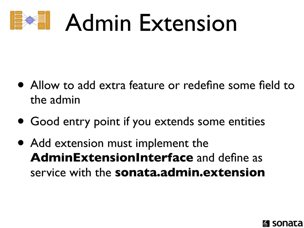 Admin Extension • Allow to add extra feature or...