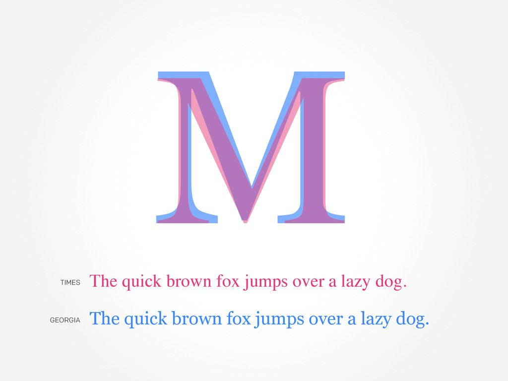 M M The quick brown fox jumps over a lazy dog. ...