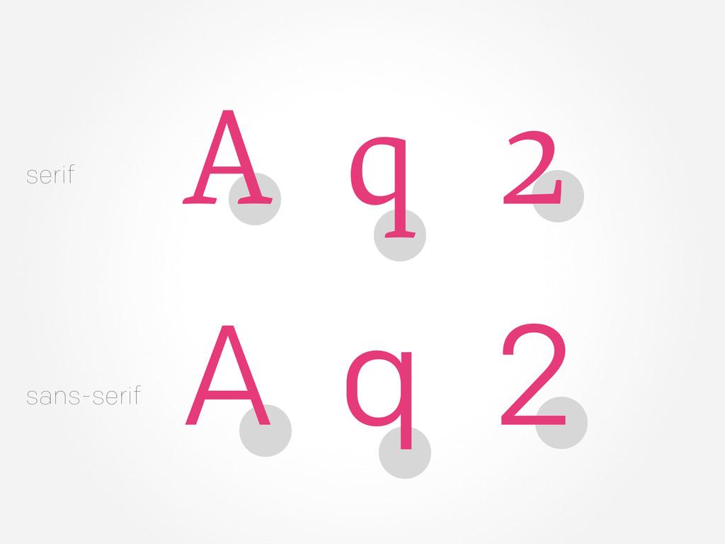 serif sans-serif q 2 A q 2 A