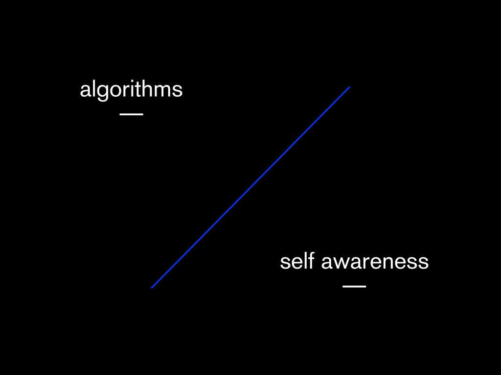 algorithms — self awareness —