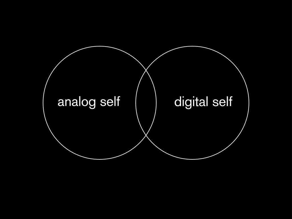 analog self digital self