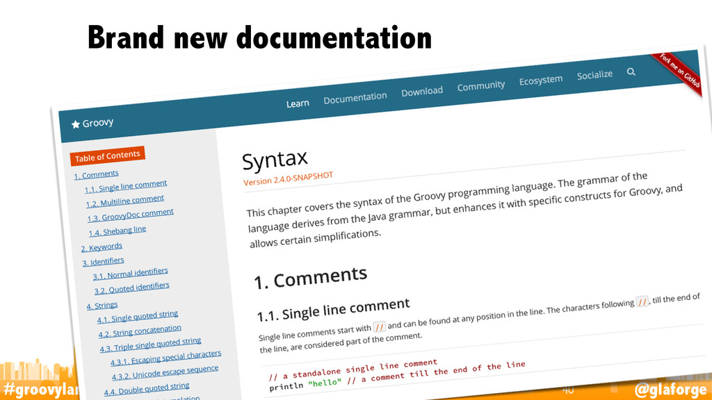 #groovylang @glaforge Brand new documentation 40