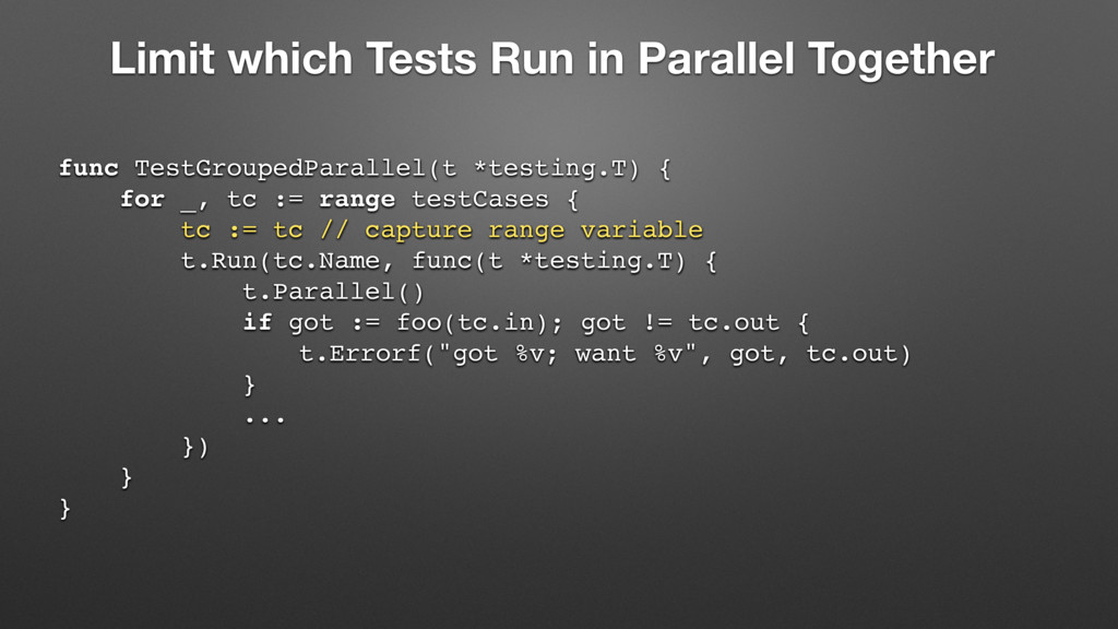 Limit which Tests Run in Parallel Together func...