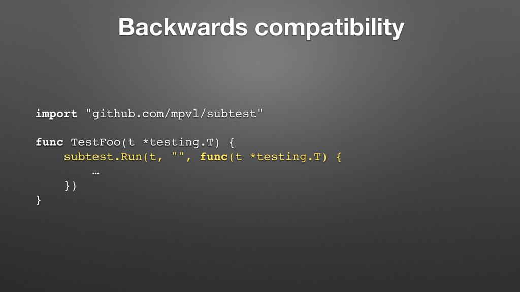 "Backwards compatibility import ""github.com/mpvl..."