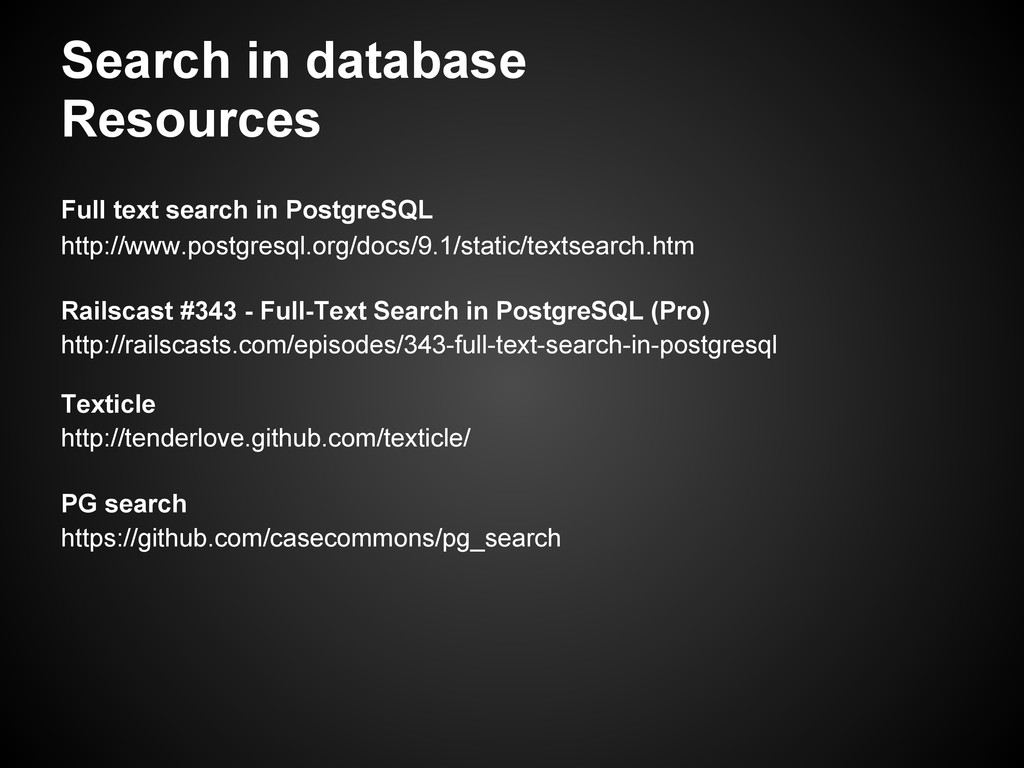 Search in database Resources Full text search i...