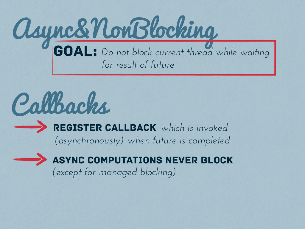Async&NonBlocking goal: Do not block current th...