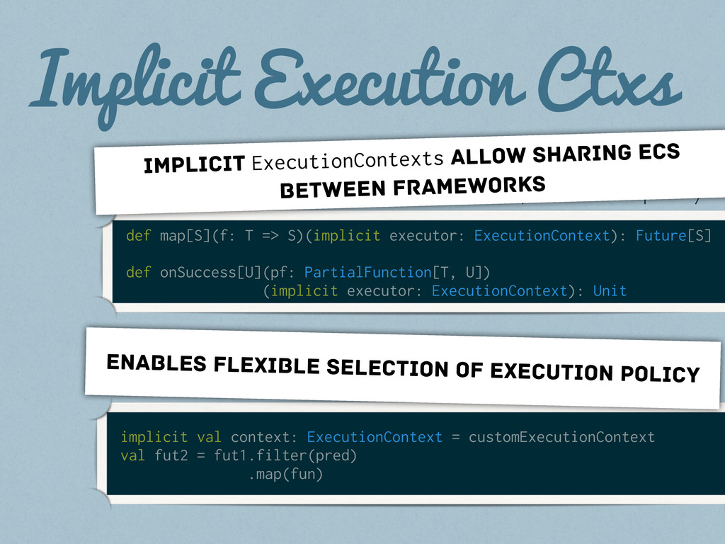 Implicit Execution Ctxs def map[S](f: T => S)(i...