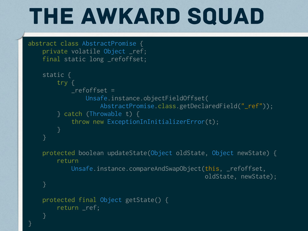 the awkard squad abstract class AbstractPromise...
