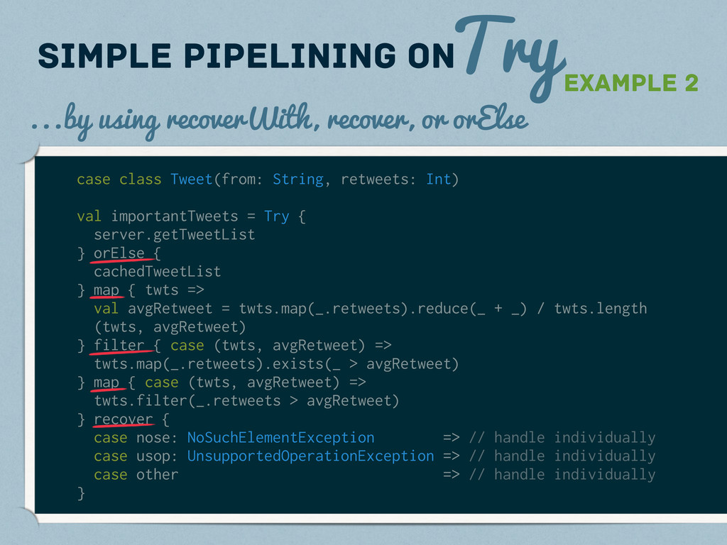 Try Simple pipelining on Example 2 ...by using ...