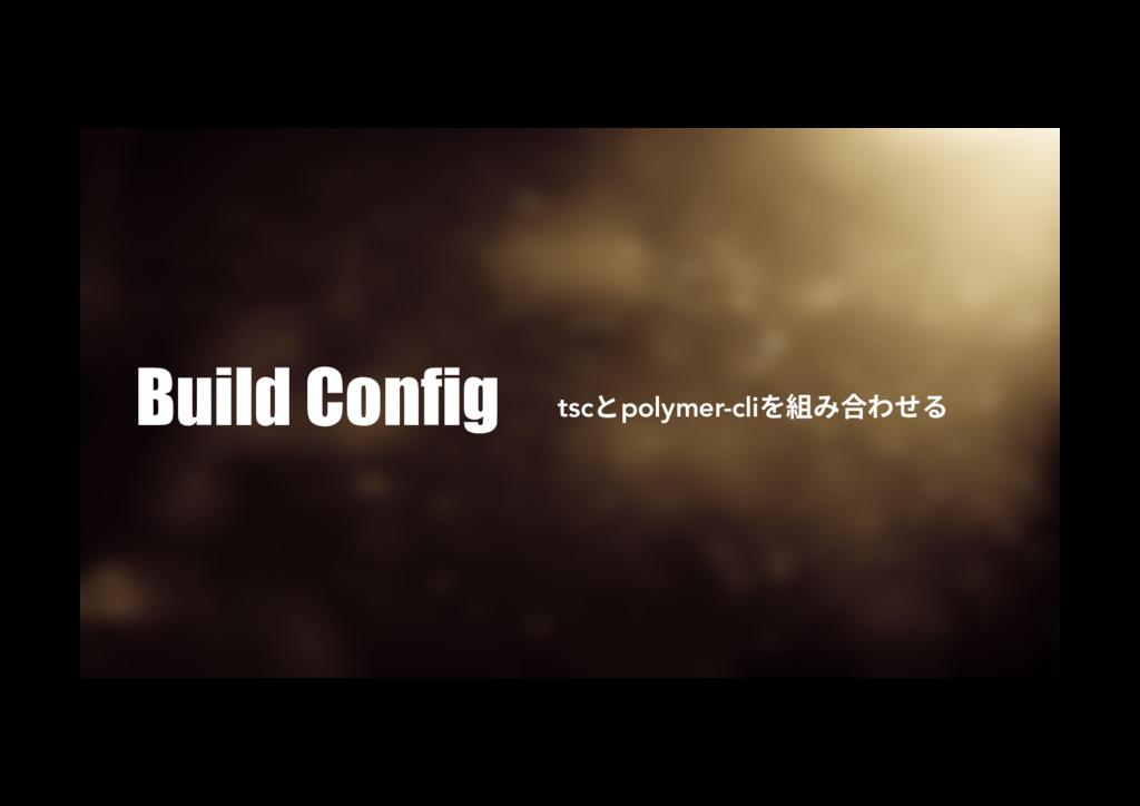 Build Config tscהpolymer-cli穈さׇ