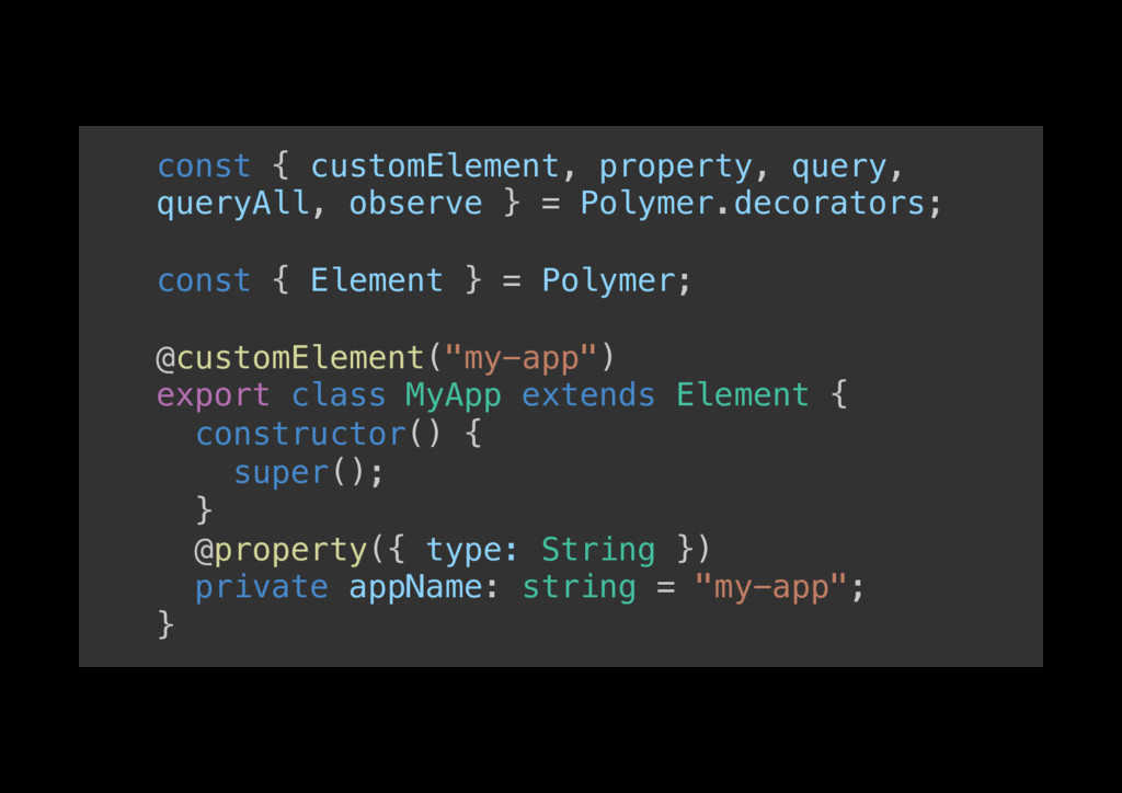 const { customElement, property, query, queryAl...