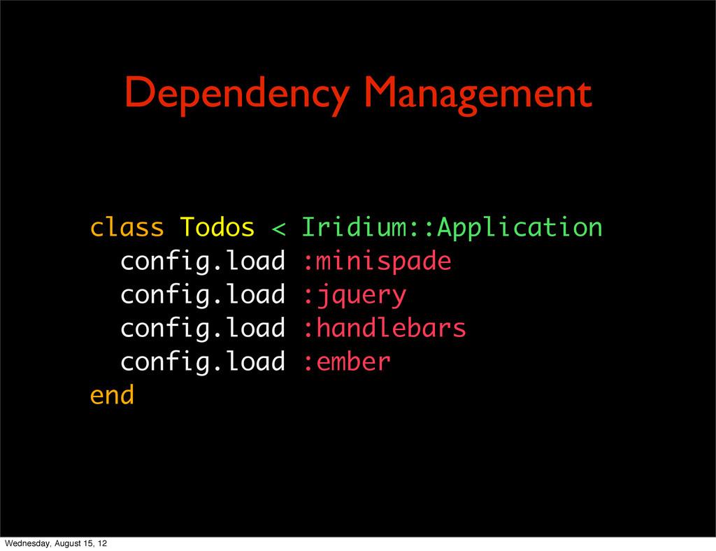class Todos < Iridium::Application config.load ...