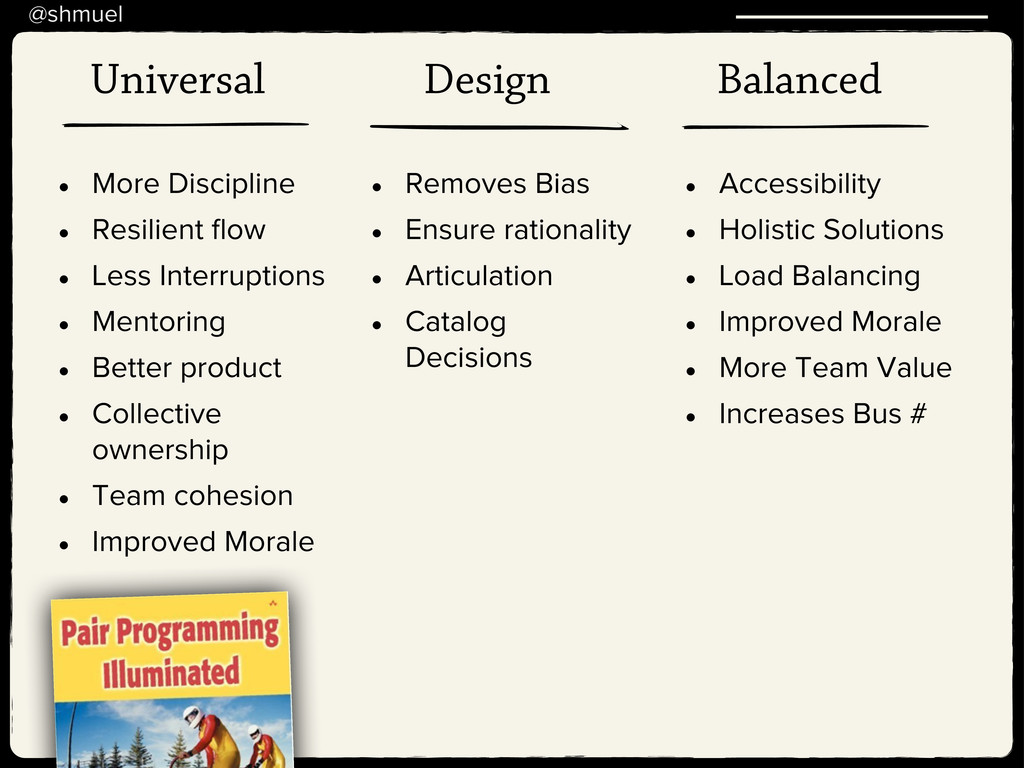 @shmuel Universal Design Balanced • More Discip...