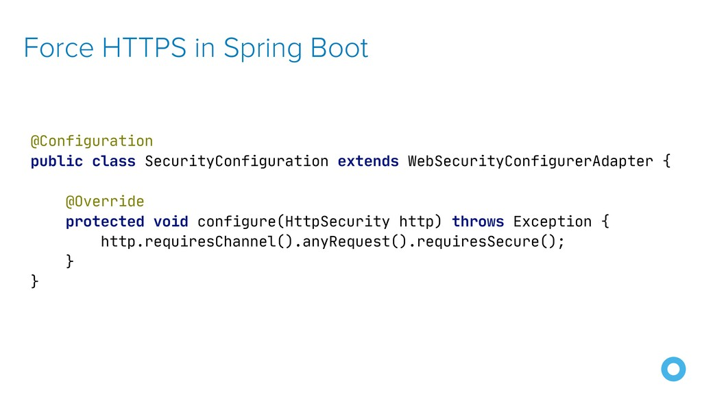 Force HTTPS in Spring Boot @Configuration  publ...
