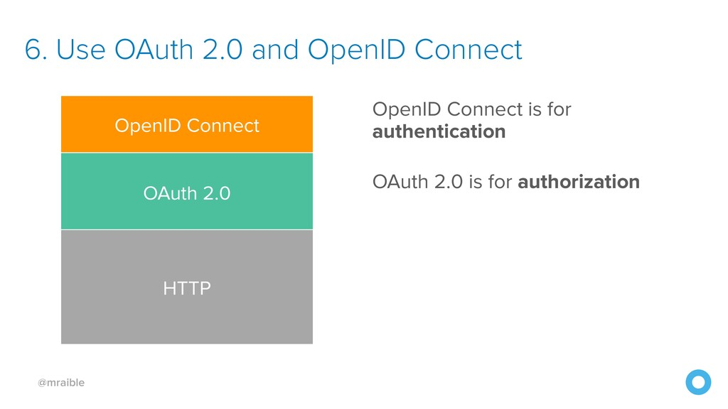 @mraible 6. Use OAuth 2.0 and OpenID Connect Op...