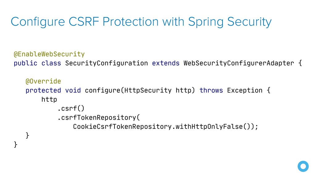 Configure CSRF Protection with Spring Security ...