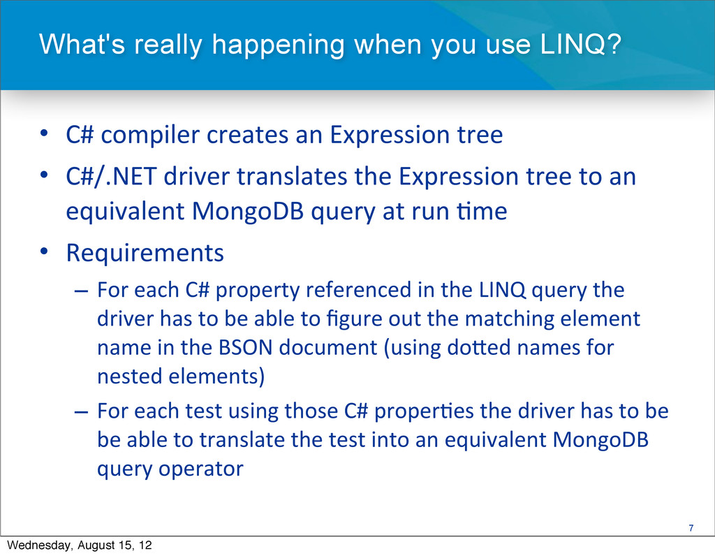 7 • C# compiler creates an Expressi...