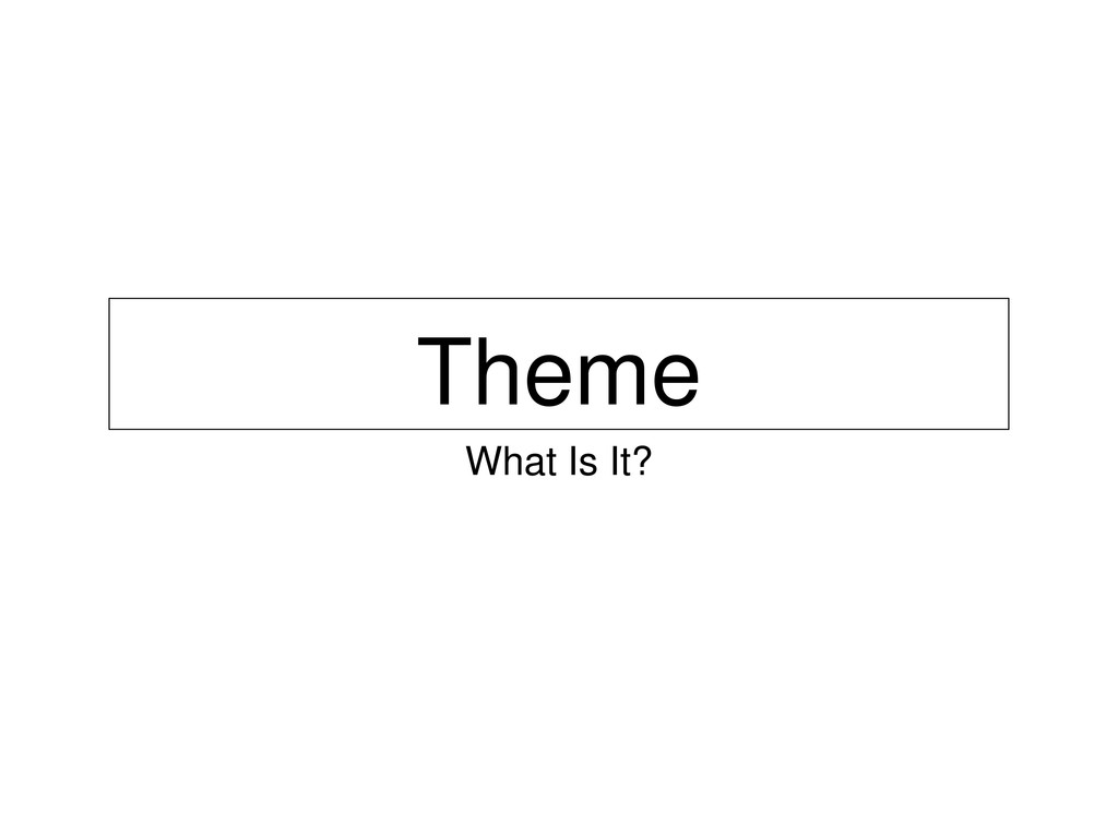 Theme What Is It?