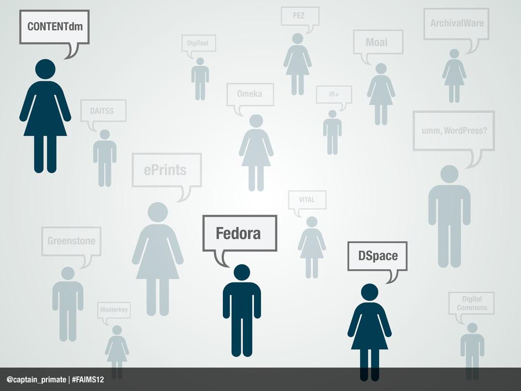 DSpace Fedora ePrints Greenstone DAITSS CONTENT...