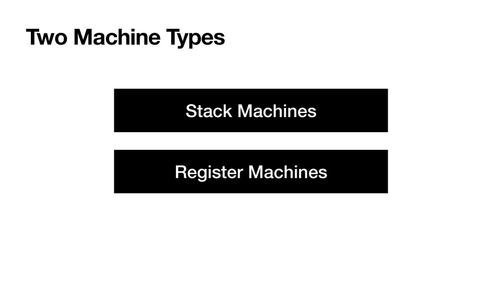 Two Machine Types Stack Machines Register Machi...
