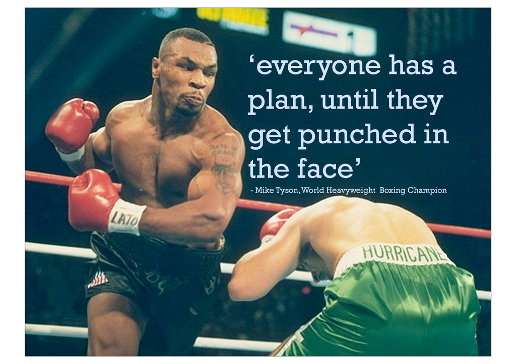 'everyone has a plan, until they get punched in...