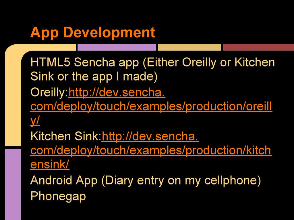 HTML5 Sencha app (Either Oreilly or Kitchen Sin...