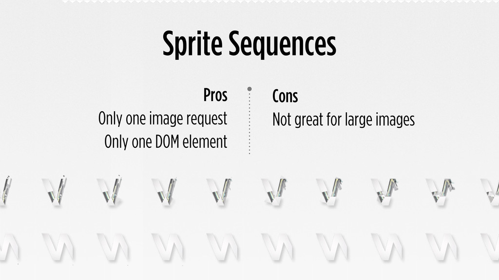 Sprite Sequences Cons Not great for large image...