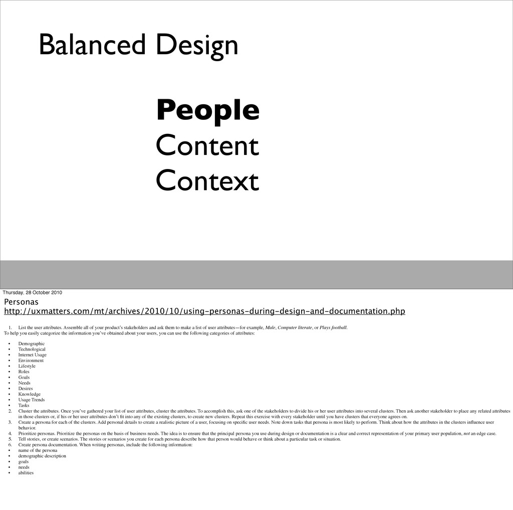 Balanced Design People Content Context Thursday...