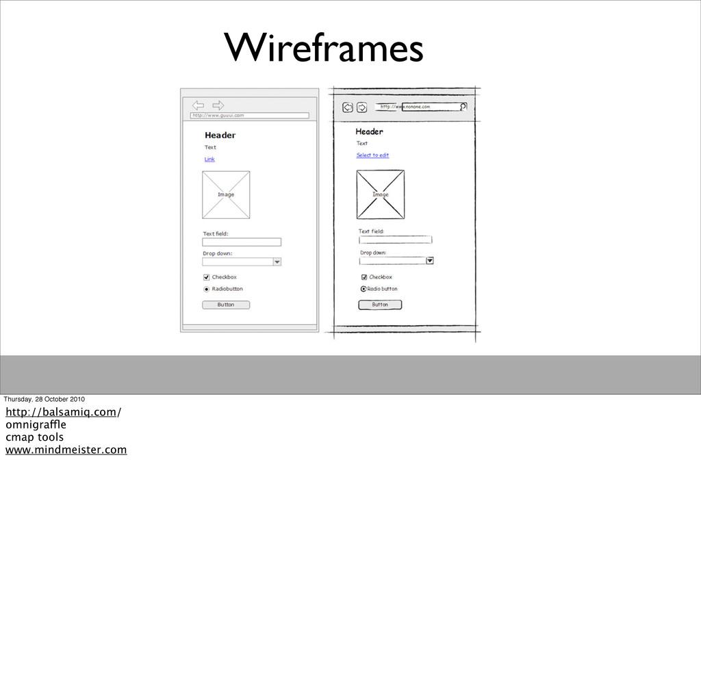 Wireframes Thursday, 28 October 2010 http://bal...
