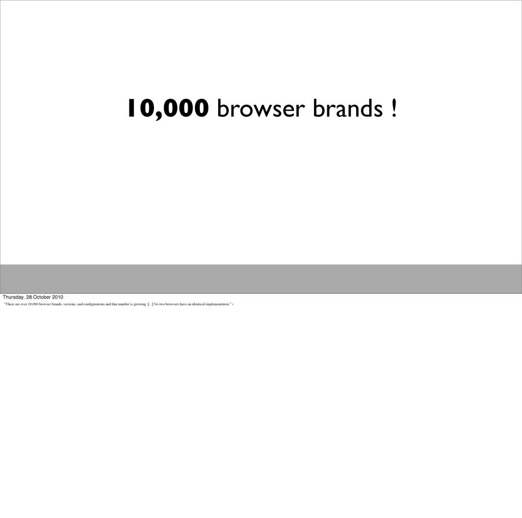 10,000 browser brands ! Thursday, 28 October 20...