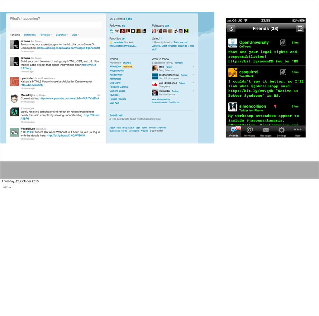 Thursday, 28 October 2010 twitter
