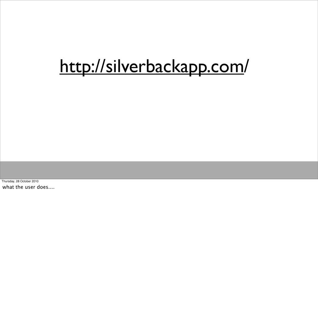 http://silverbackapp.com/ Thursday, 28 October ...