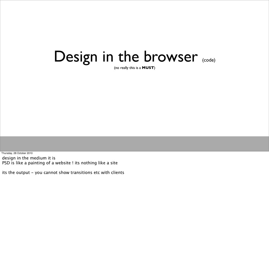 Design in the browser (code) (no really this is...