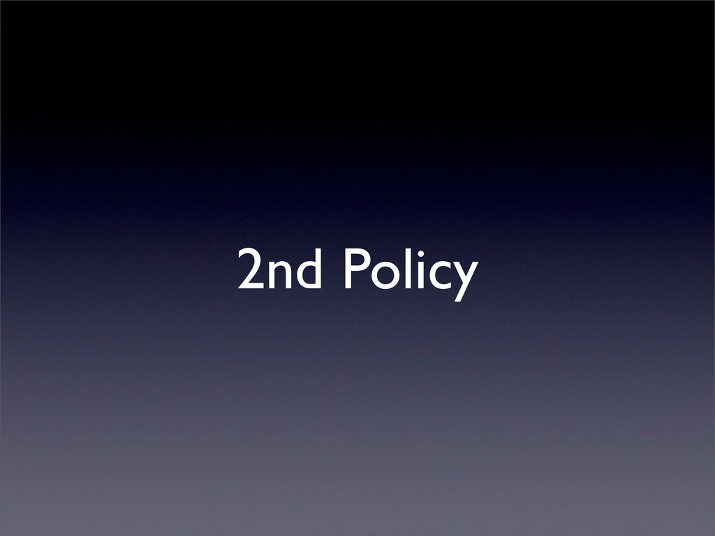 2nd Policy