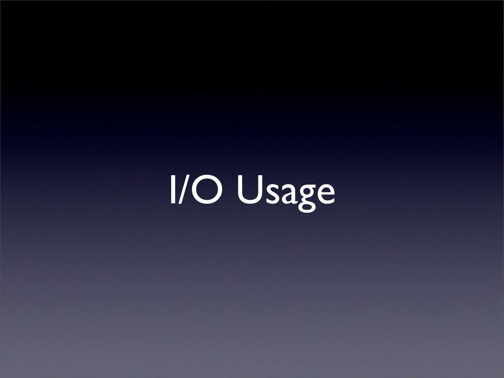 I/O Usage