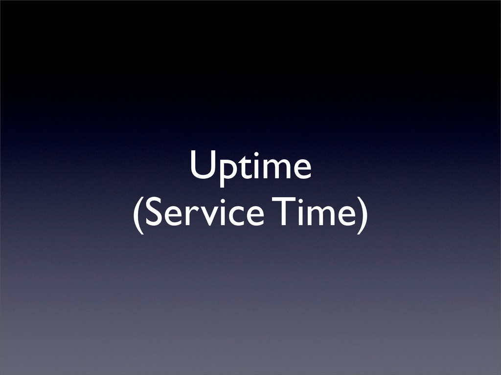 Uptime (Service Time)