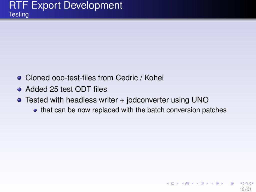 RTF Export Development Testing Cloned ooo-test-...