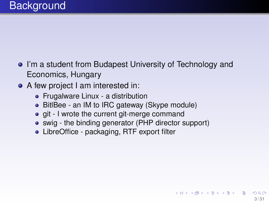 Background I'm a student from Budapest Universi...
