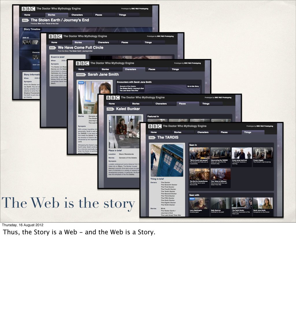 The Web is the story Thursday, 16 August 2012 T...