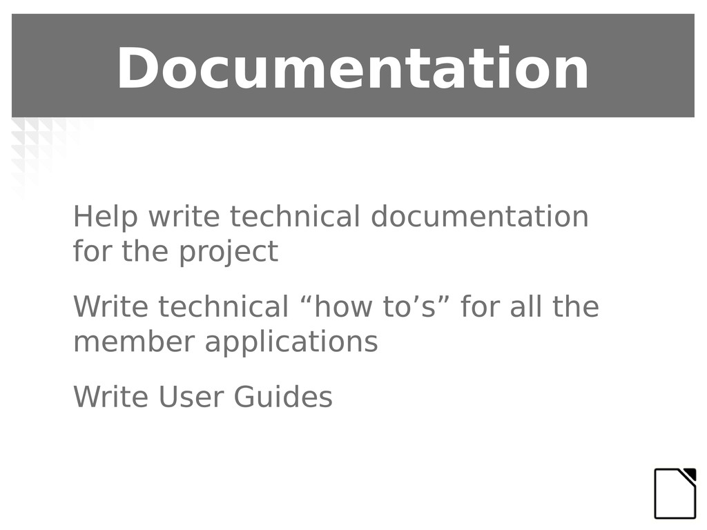 Help write technical documentation for the proj...