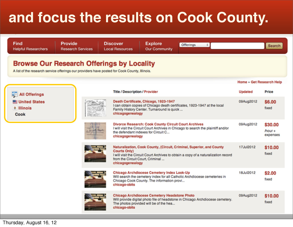 and focus the results on Cook County. Thursday,...