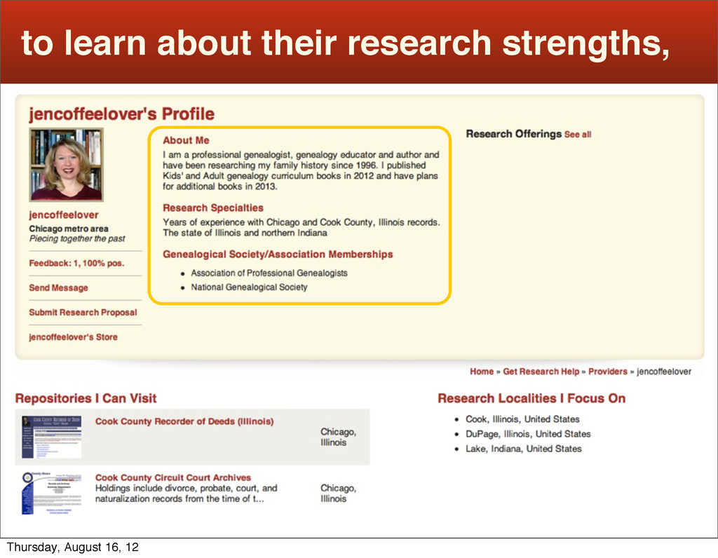 to learn about their research strengths, Thursd...