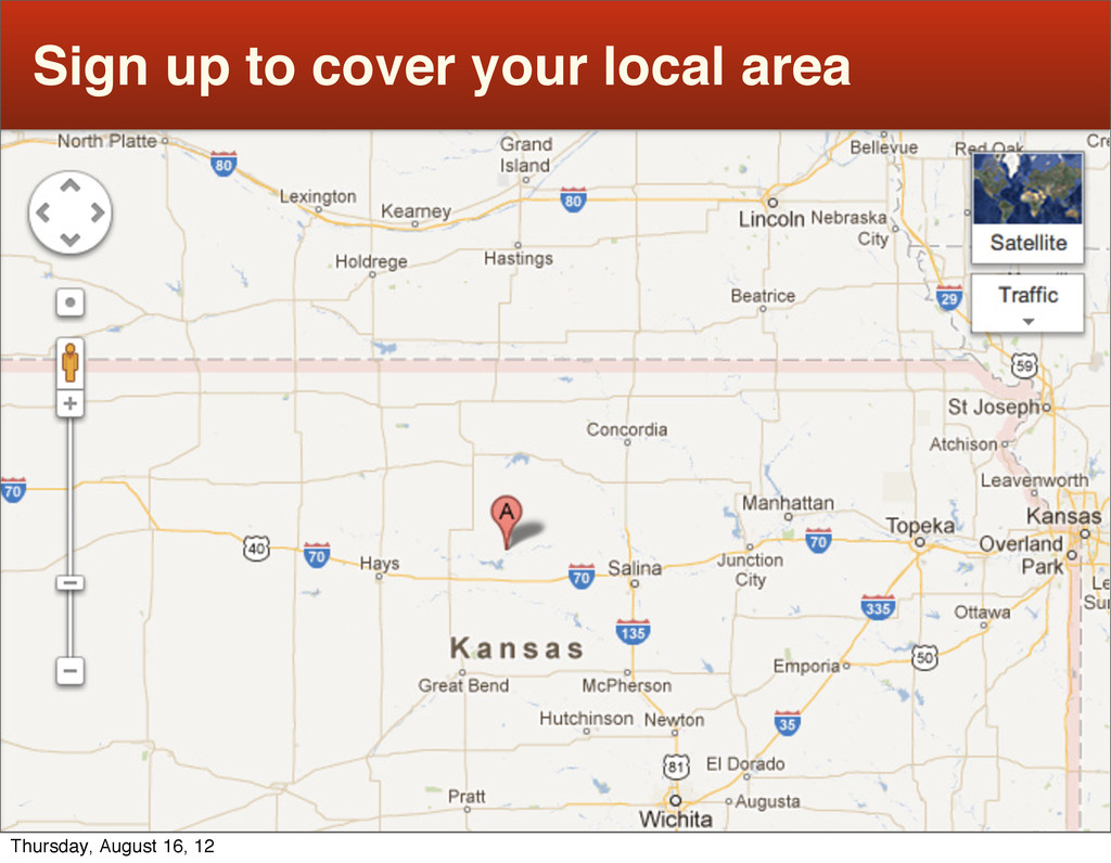 Sign up to cover your local area Thursday, Augu...