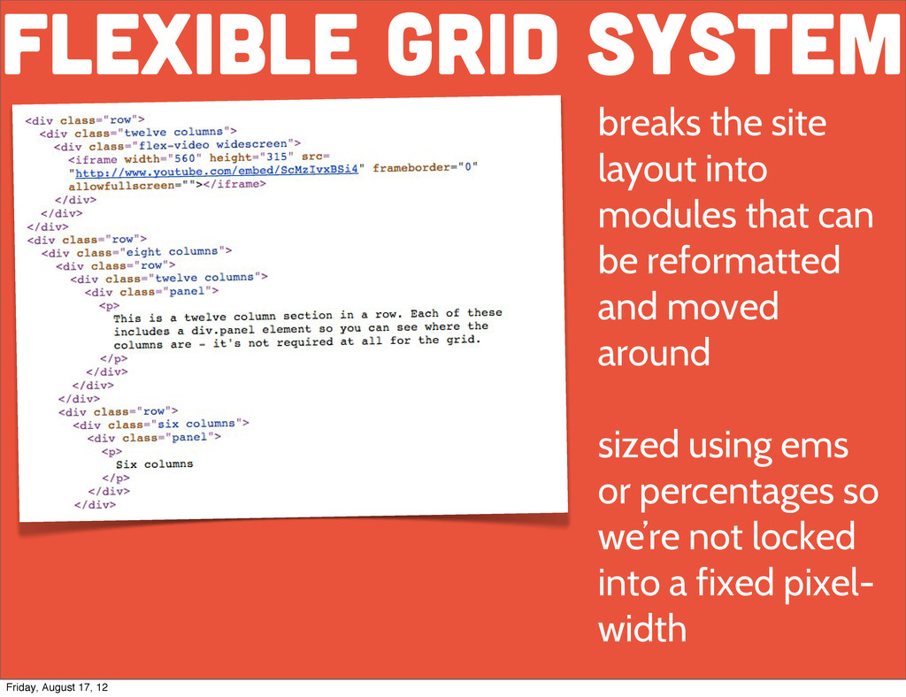flexible grid system Text breaks the site layou...