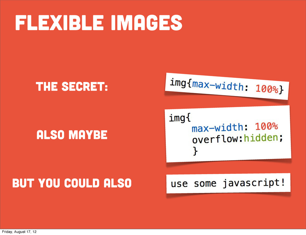 flexible images the secret: also maybe but you ...