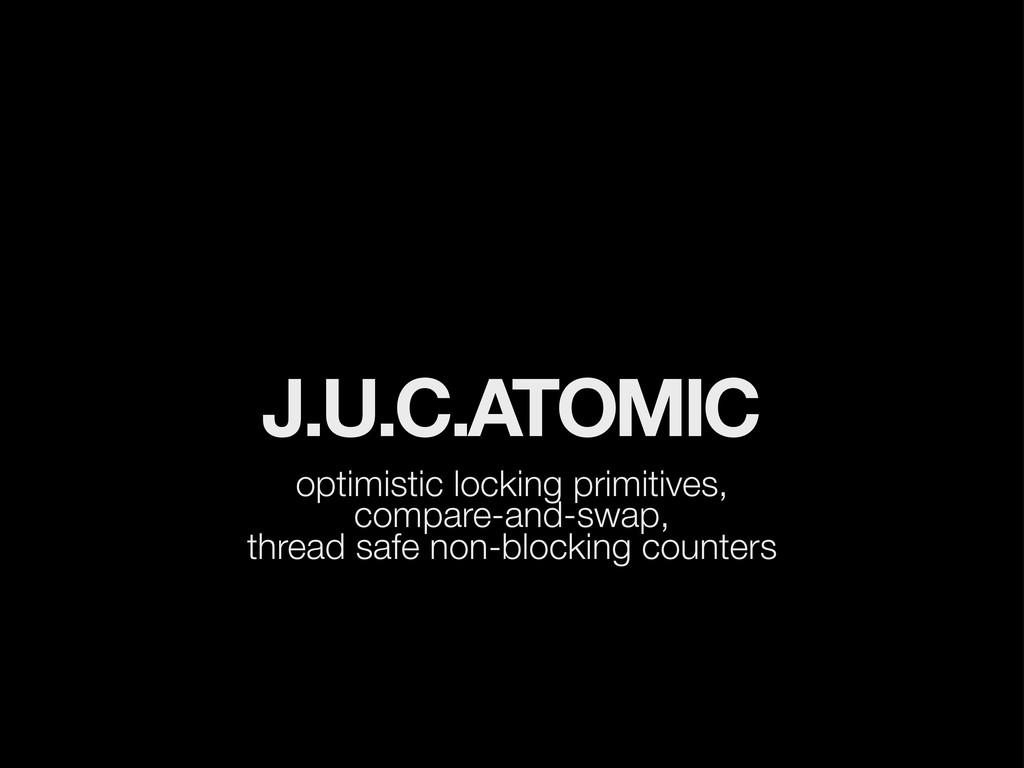 J.U.C.ATOMIC optimistic locking primitives, com...