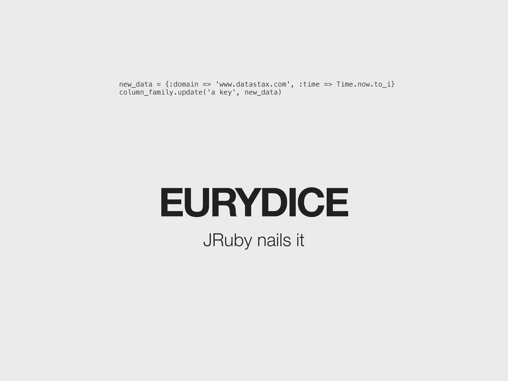 EURYDICE JRuby nails it new_data = {:domain => ...