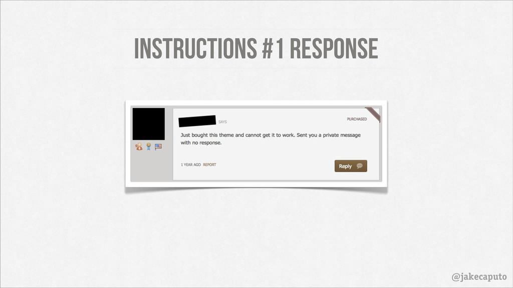 Instructions #1 Response @jakecaputo